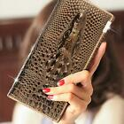 Crocodile Design Genuine Leather Women Wallet Lady Hand Bag Luxurious Purse #3HO