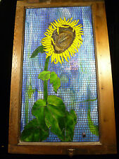 BEAUTIFUL MOSAIC STAINED GLASS PICTURE – 'SUNFLOWER' BY DONNA DONALDSON