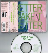 """SWING OUT SISTER Better Make It Better JAPAN 5"""" MAXI CD w/OBI+PS PHCR-8314 FreeS"""