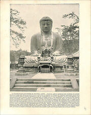 Amida Great Buddha Kotoku-in Japan / The Rape of Polyxena Florence 1897 PRINT