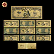 10pcs 1899 Series $5 Chief One Papa Indian US Five Dollars 24k Gold Banknote COA