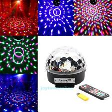 Remote Control RGB MP3 Magic Ball LED Music DJ Stage Light Party Crystal SD USB