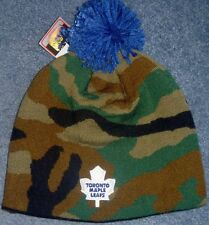 Authentic TORONTO MAPLE LEAFS Knit Pom REEBOK Winter Hat/Toque jersey CAMO Cap