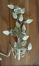 RACHEL ASHWELL SHABBY CHIC COUTURE WHITE WALL LIGHTING SCONCE WITH ROSES