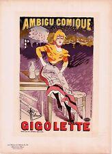 MAÎTRES DE L'AFFICHE-PL. 30-GUILLAUME-GIGOLETTE-AMBIGU COMIQUE-VERS 1906