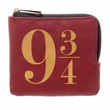 Harry Potter 9 3/4 Embroidered Hogwarts Crest L-Zip Closure Wallet