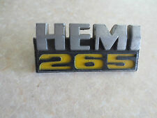 Original 1970s Chrysler Valiant VH & VJ Hemi 265 car badge