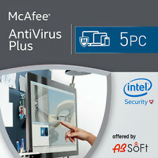 McAfee Antivirus Plus 2017 5 PC 12 Months License Antivirus 2016 5 users