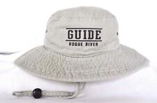 *ROGUE RIVER GUIDE OREGON Whitewater Rafting Safari Outback Bucket Hat S/M OURAY