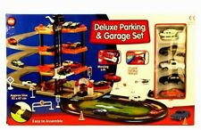 A to Z Deluxe Parking & Garage Playset For Kids Children Toy Cars Lift Road New