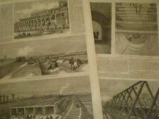 London main drains 1861 old prints and article