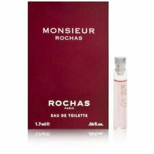 MONSIEUR ROCHAS EAU DE TOILETTE 4 x 1.7ml SAMPLE VIALS NEW