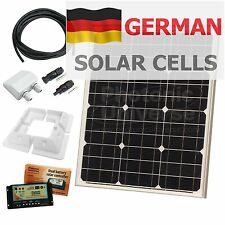 40W 12V dual battery solar panel charging kit with controller & brackets 40 watt