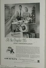 1957 Graflex ad, Graphic 35, push button focus