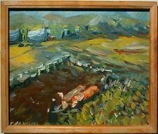 Rudolf Janisch ( geb 1941- ) Ochsengespann am Feld