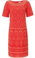 """BNWT """" Monsoon """" Size 8 Serena Coral Embroidered Dress (36 EU)Weddings Party New"""