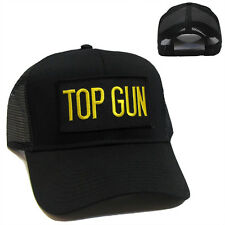 US NAVY TOP GUN Patch Baseball Mesh Snapback Black Cap Hat  - TG03