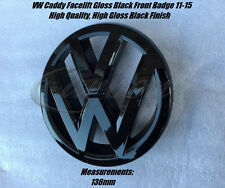 VW Caddy Gloss Black Front Grille Badge Emblem Facelift 2011-2015 - UK Seller -