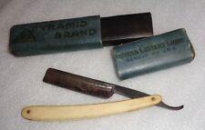antique Mohawk Valley straight edge razor