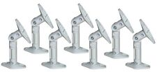 7 PC Pack Universal Wall Ceiling Satellite Speaker Mount Brackets Lot White Bose