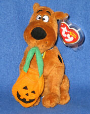 TY SCOOBY DOO with PUMPKIN BAG the BEANIE BABY - MINT with MINT TAGS