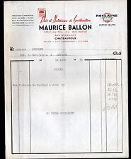 """CHATEAUROUX (36) MATERIAUX de CONSTRUCTION """"Maurice BALLON"""" en 1953"""