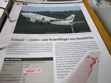 Airlines Archiv Tunesien Tunisair Linien und Ferienflieger 4S