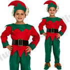 CHILDRENS KIDS BOYS ELF SANTAS LITTLE HELPER SANTA FANCY DRESS COSTUME CHRISTMAS