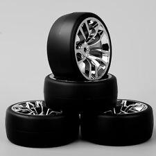 HobbyGo 1:10 RC Speed Drift Racing Car Tires Tyre SBDC Wheel Rim For HPI 4PCS