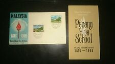 Penang Free School 150 years 1816-1966 2v stamp FDC Malaysia with brochure