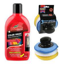 TURTLE WAX LIGHT RED COLOUR MAGIC CAR POLISH & CHIPSTICK + APPLICATOR PAD SET