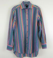 ETRO Multi Stripe Long Sleeve Button Front Casual Shirt sz 38 Made in Italy