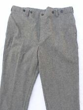 WOOLRICH gray heavy wool hunting suspender button trousers pants 44
