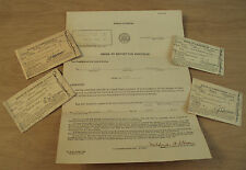 VTG 1940's WWII NOTICES of Classification/DRAFT Notice/INDUCTION Order~