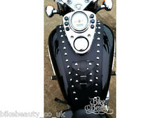 HONDA VT 125 SHADOW VT125 LEATHER TANK Pad Panel Cover Chap Bra Strap Bib