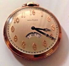 Vintage 1924 Waltham Riverside (SECOMETER) ) Pocket Watch - 21 JEWELS