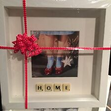 WHITE FRAME RUBY SLIPPERS HOME PHOTO SCRABBLE TILE PICTURE SIMPLY STUNNING