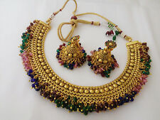 indian Fashion Jewelry Nacklace set bollywood ethnic gold plated traditional set
