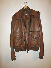 "BALLYS MEN LEATHER ""LAMB SKIN"" JACKET WITH HOODIE. SIZE-44 US-LARGE"