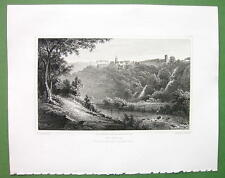 ITALY Tivoli from Villa of Quintilius Varus - 1820 Antique Print by Miss BATTY