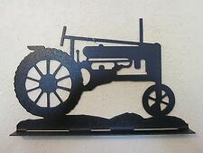 ANTIQUE TRACTOR  MAILBOX TOPPER (NO NAME) TEXTURED BLACK POWDER COAT FINISH
