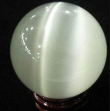 White 40MM+Stand Mexican Opal Sphere Crystal Ball /Gemstone 004