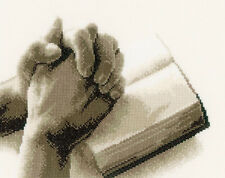 Cross Stitch Kit ~ Vervaco Praying Hands & Opened Bible #PN-0150173