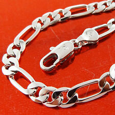 FSA588 GENUINE REAL 18CT WHITE G/F GOLD SOLID MENS ITALIAN STYLE NECKLACE CHAIN