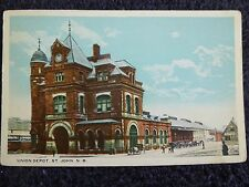 1919 The Union Railroad Depot in St. John, New Brunswick Canada PC