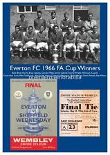 EVERTON FC 1966 FA CUP FINAL HARRY CATTERICK BRIAN LABONE EXCLUSIVE A4 PRINT