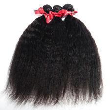 "Malaysian Virgin Human Hair Weaves Kinky Straight Hair 3Pcs 14"" 16"" 18""  300G"