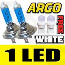 WHITE H7 501 55WATT +50% =100W XENON GAS HID HALOGEN BULB HI LOW BEAM MAIN DIP