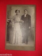 Antique Ancestor Photo Young Couple Wedding Fordtran Studios Blue Island Chicago