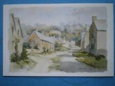 POSTCARD WORCESTERSHIRE STANWAY COTSWOLD VILLAGE WATERCOLOUR